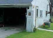 At the garage