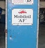 Mobiloil Gargoyle oil cabinet