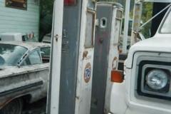 Tall Tokheim 39 pumps still on the island