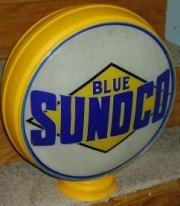 Blue-Sunoco-black-diamond-1931-to-1940-15in-metal